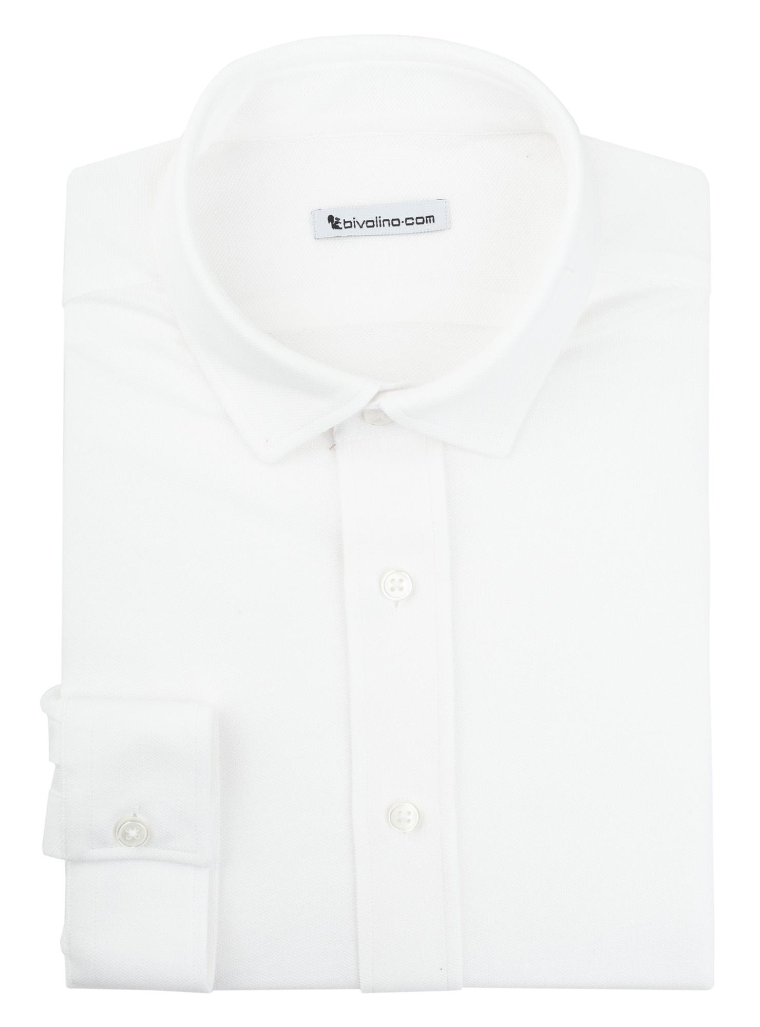 JERSILIONI - 100% coton piqué Jersey blanc  JERSILI 1