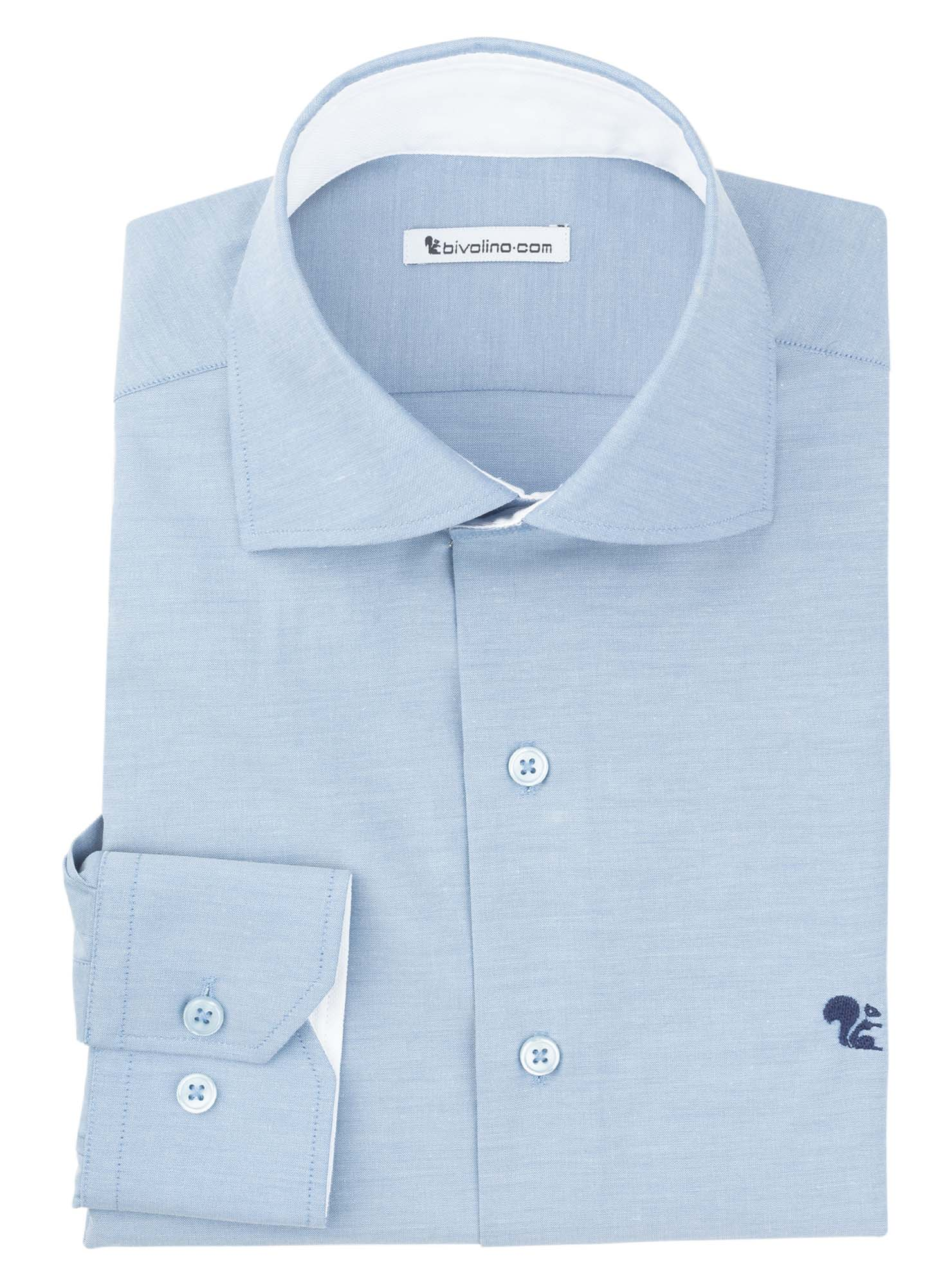 ACQUASPARTA - cot-pes blue plain men shirt - COLT 2