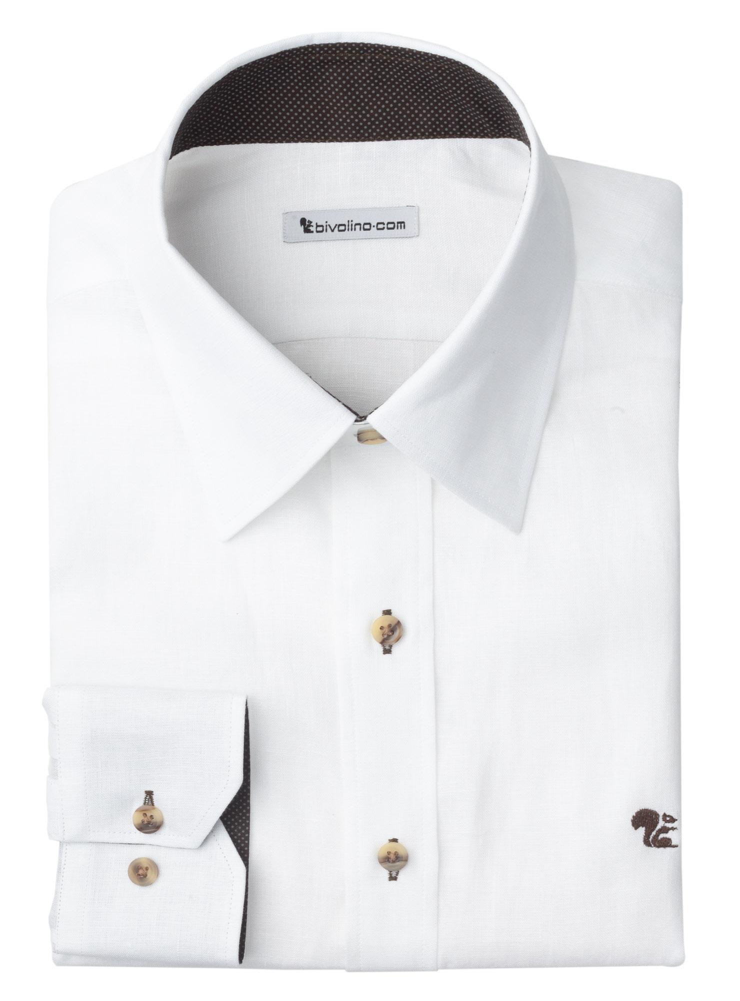 ANDRIA - white linen men shirt - SERA 1