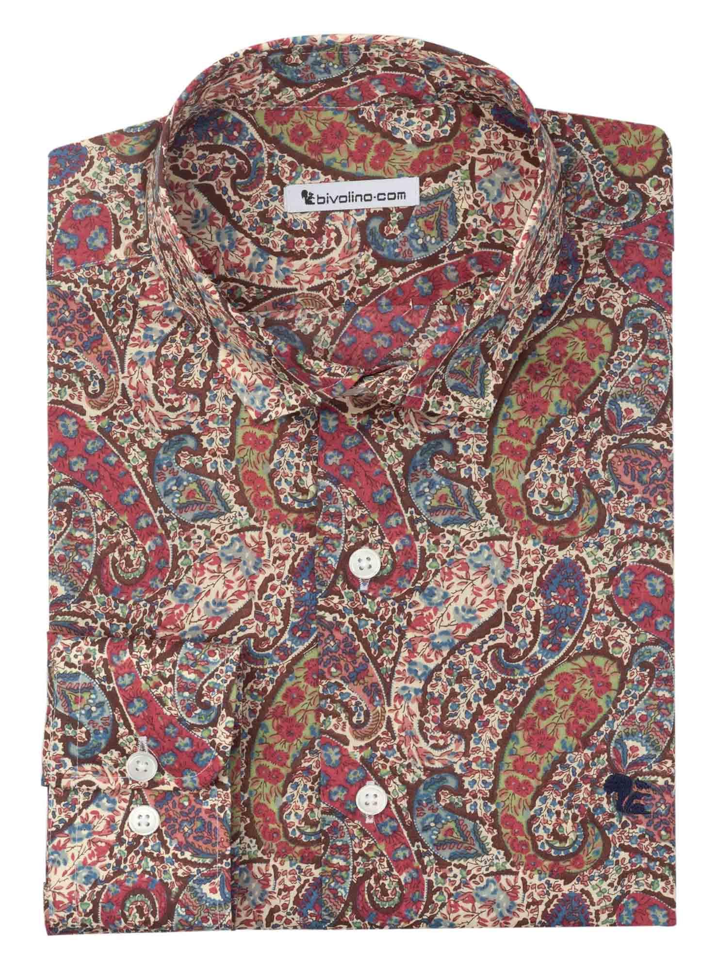 ANCONA - paisley  tana lawn heren overhemd - LIBERTY 2