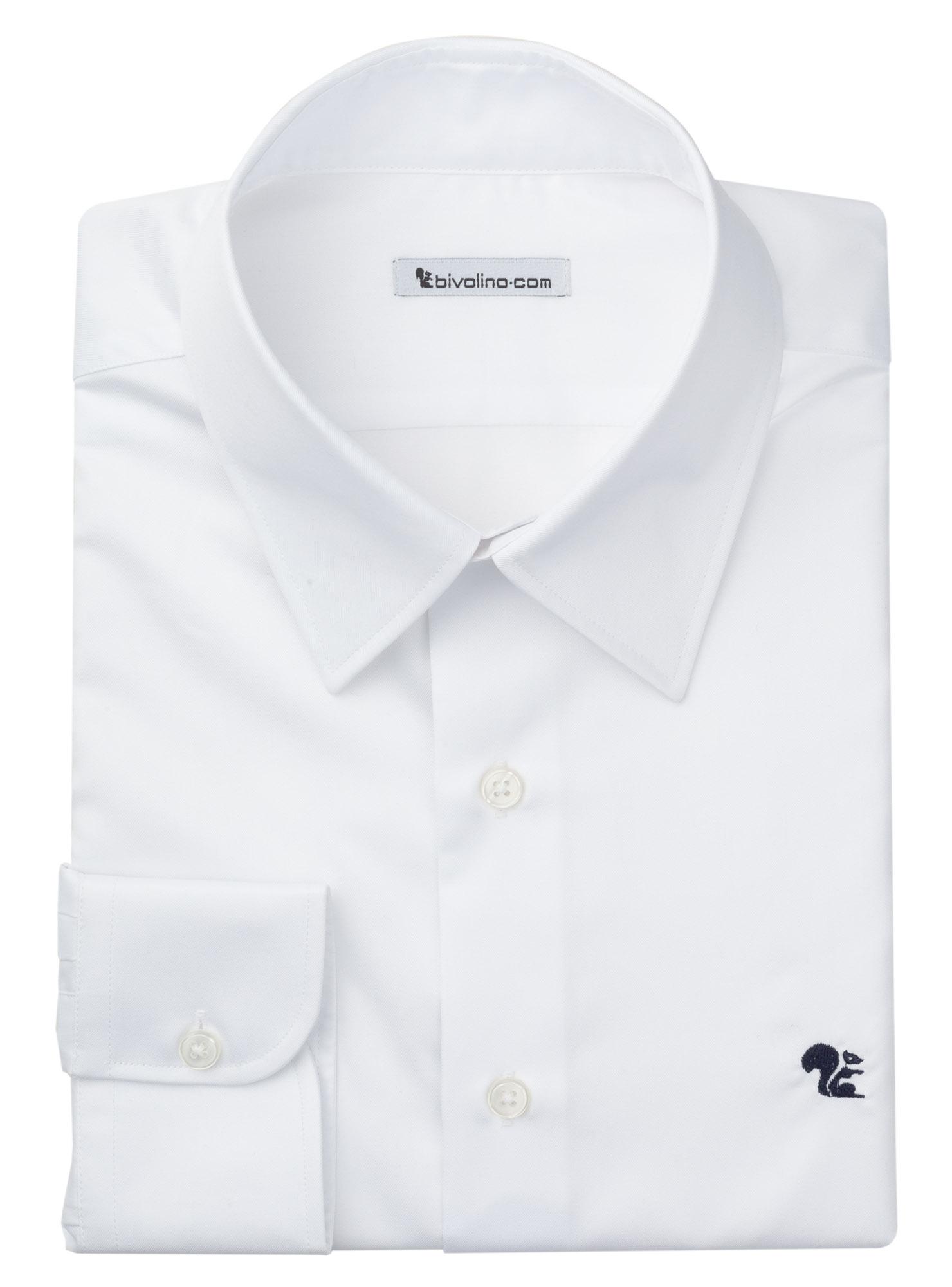 AVIGLIANO - chemise homme Twill fin Blanc - SANTI 1