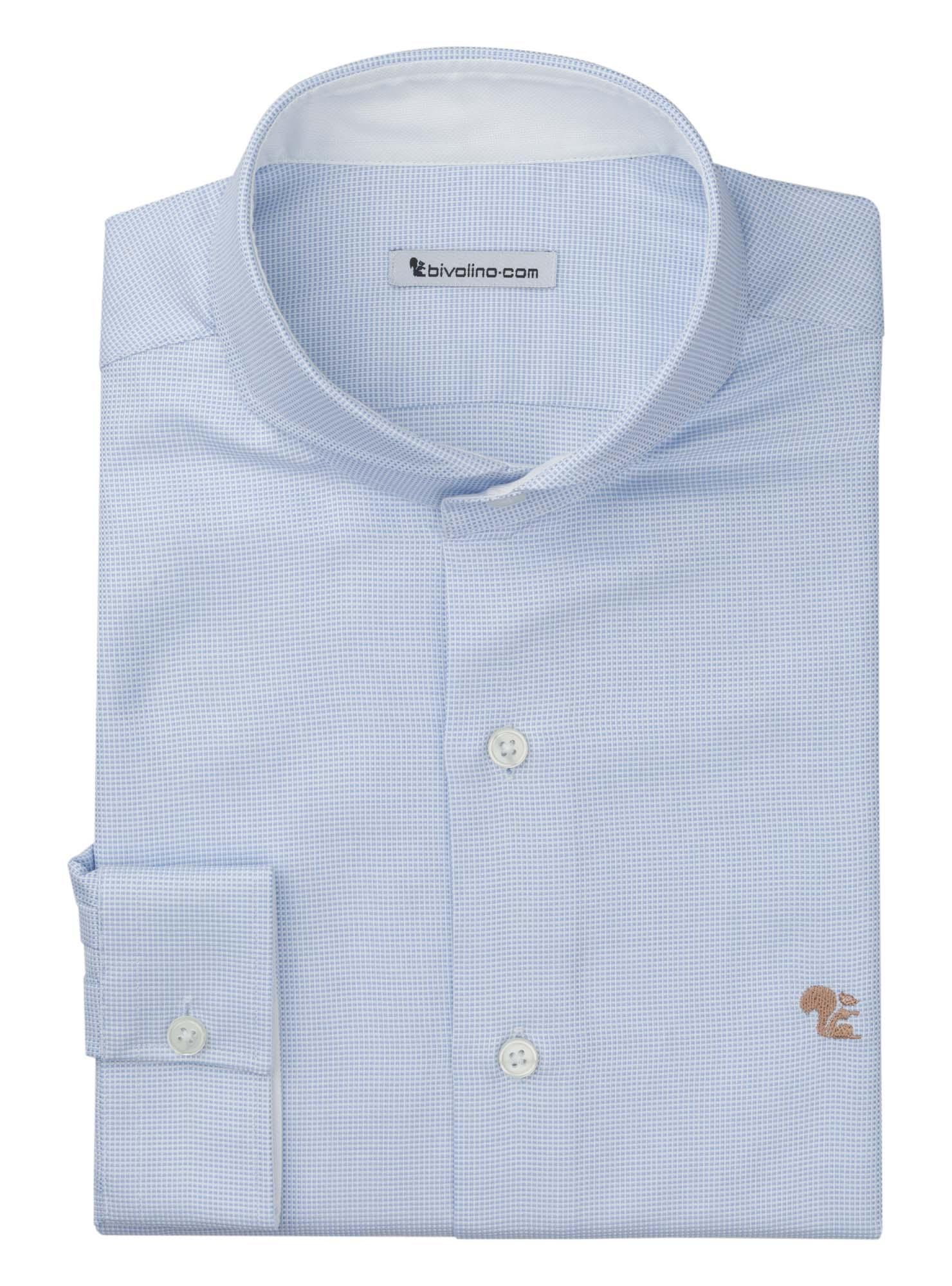BIELLA - chemise homme Oxford bleu double retors - ROYAL PANAMA 1