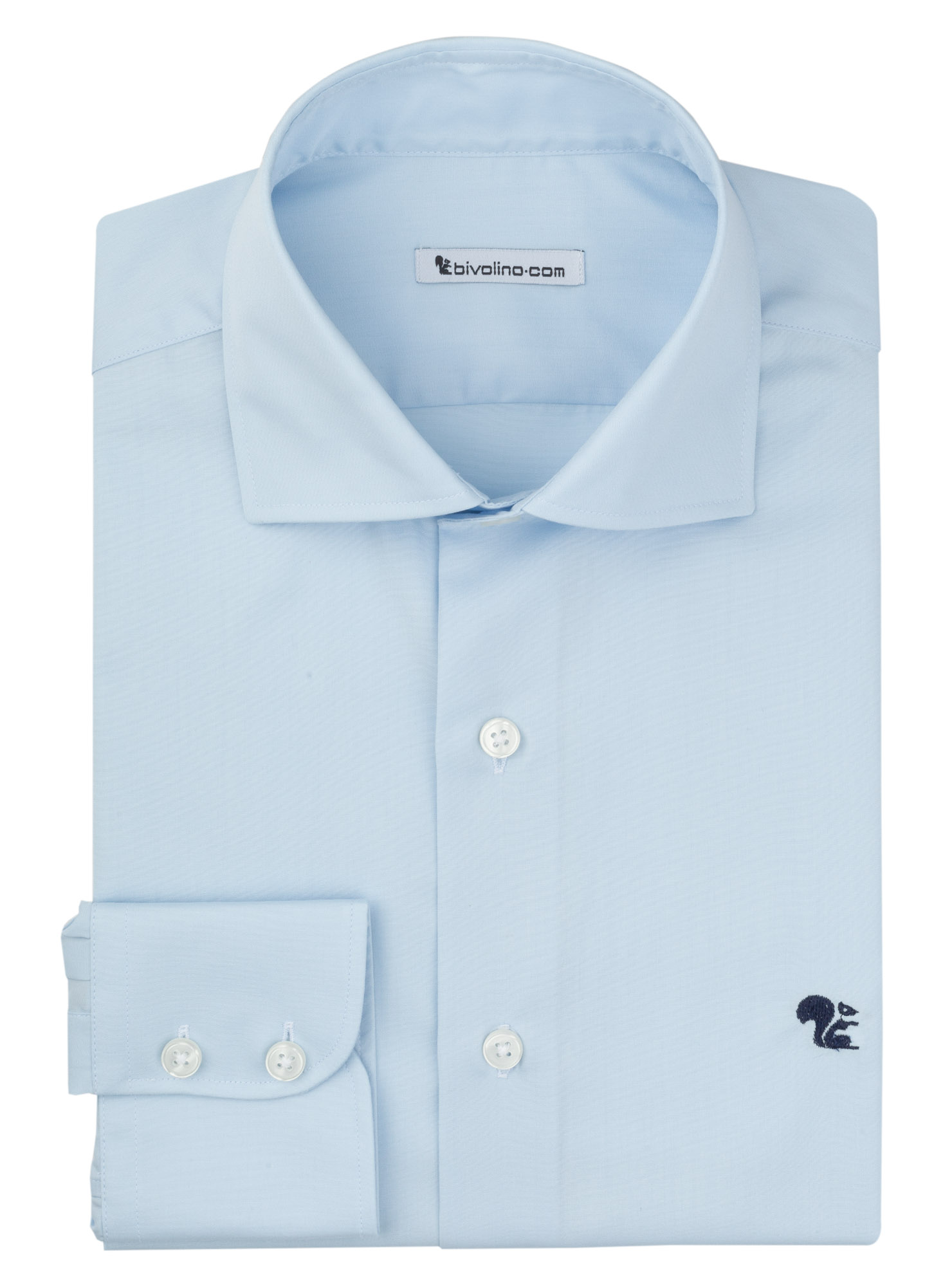 BARLETTA -  Popeline  uni blauw heren overhemd - MARCO 3
