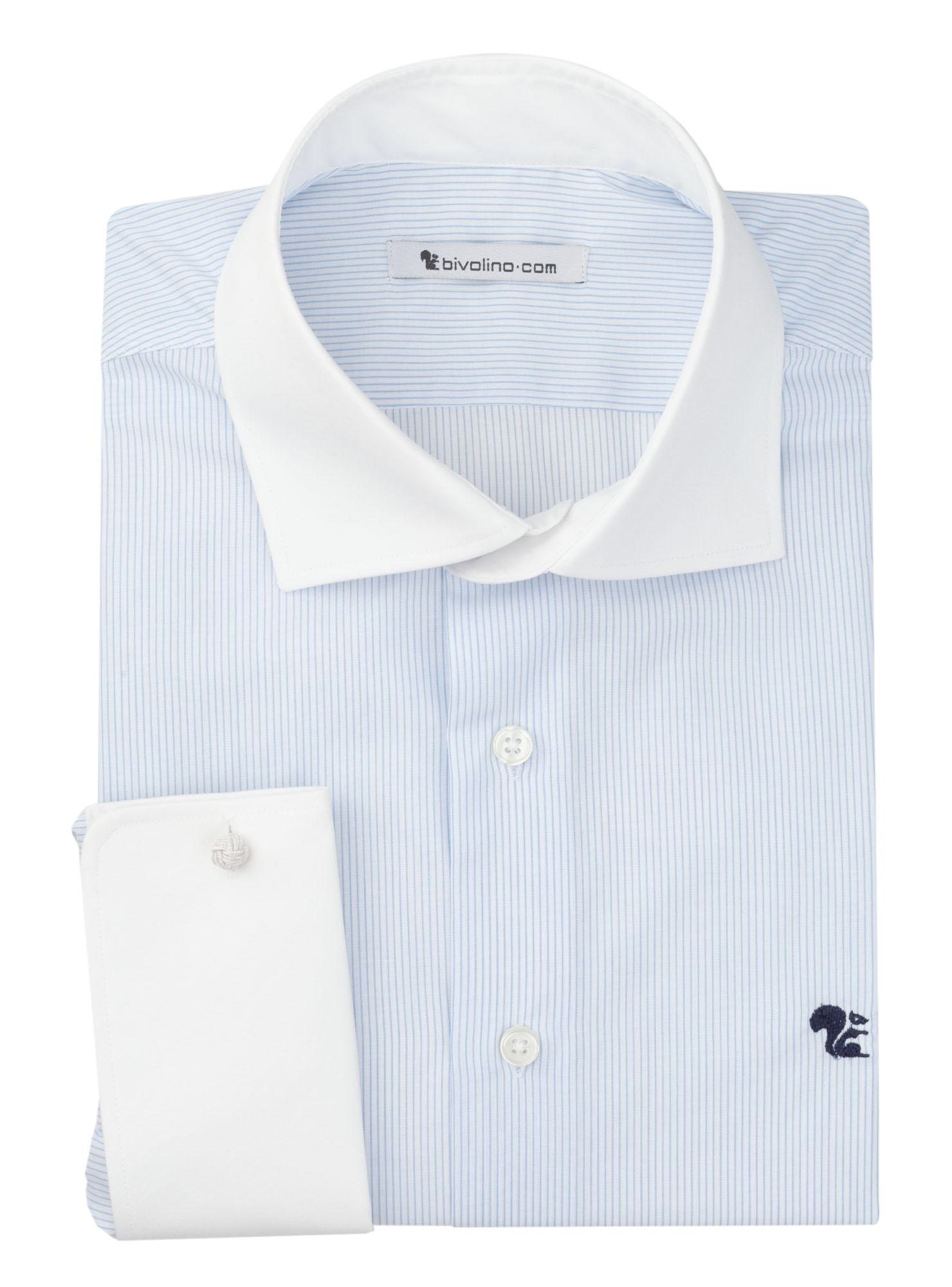 BARI - cot-mix Streifen business blau Herren WINCHESTER Hemd - BOREO 2