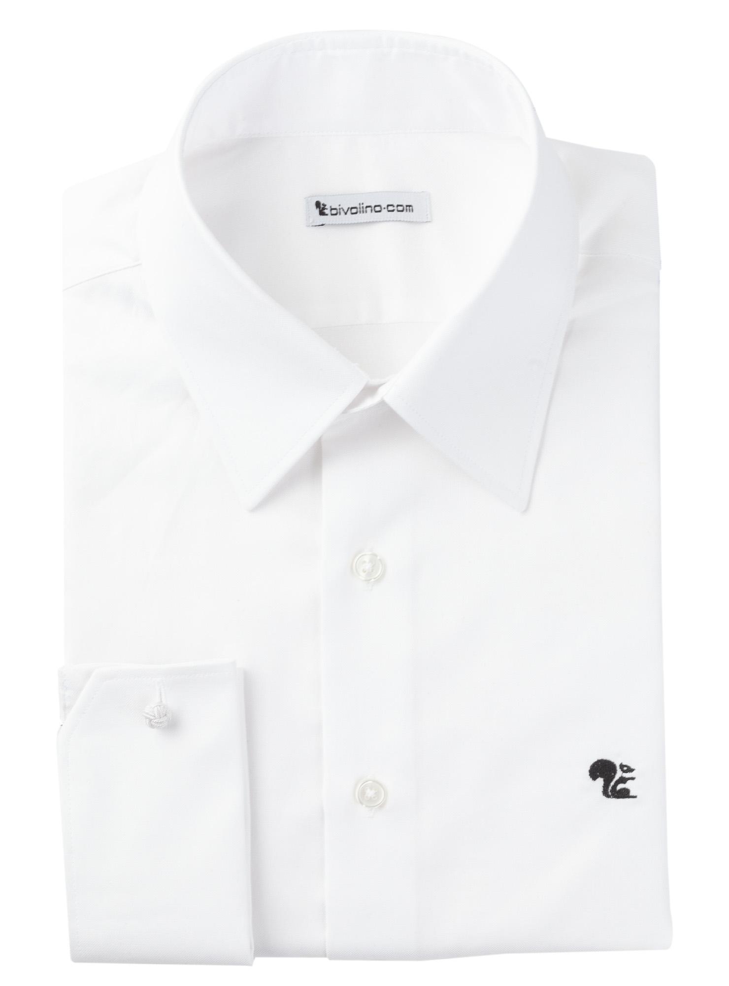 CALTANISSETTA -  Witte oxford heren overhemd - DAMO 1