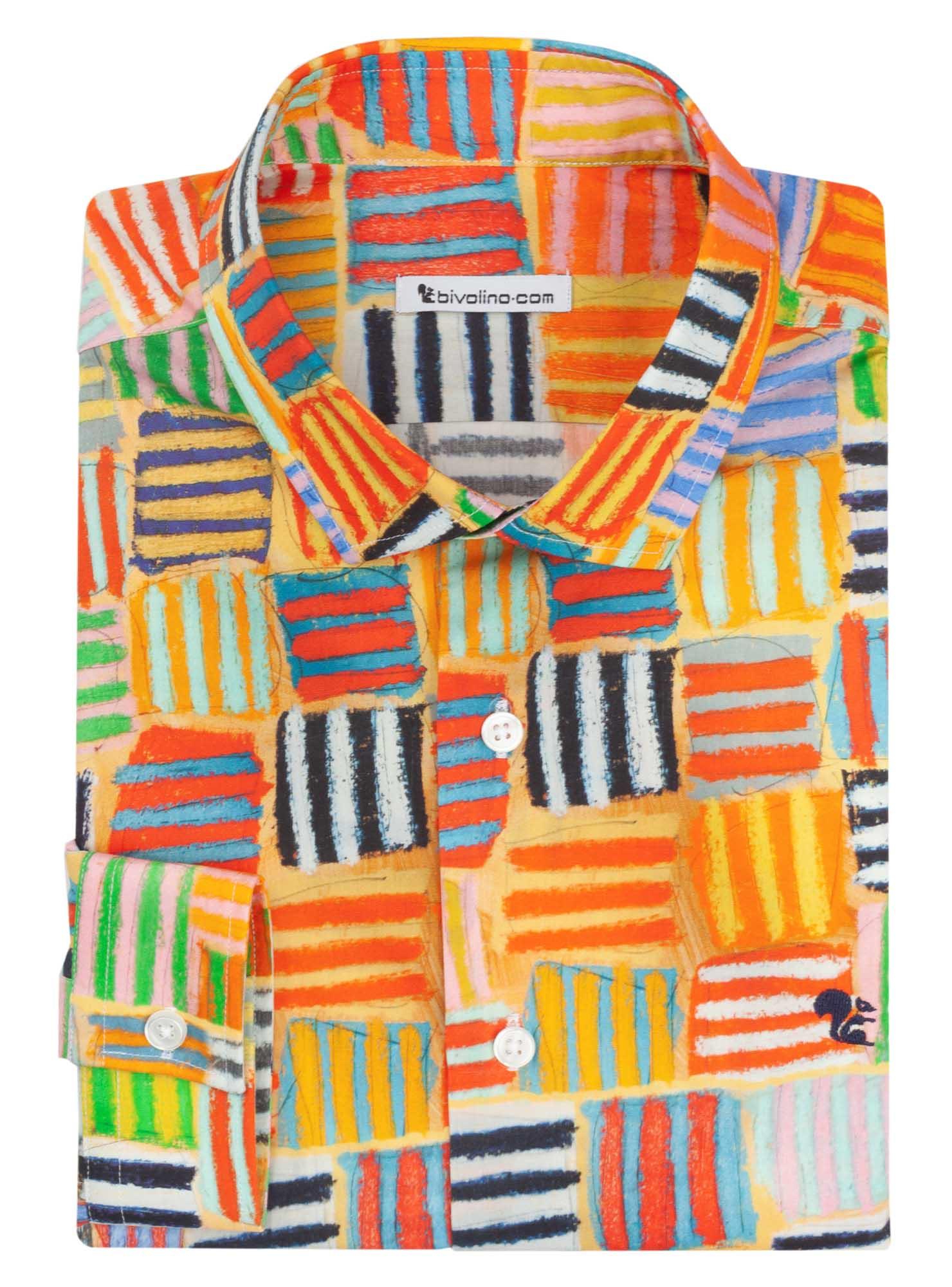 CARBONIA - ARTY-PRINT men shirt - GORDON HOPKINS 1