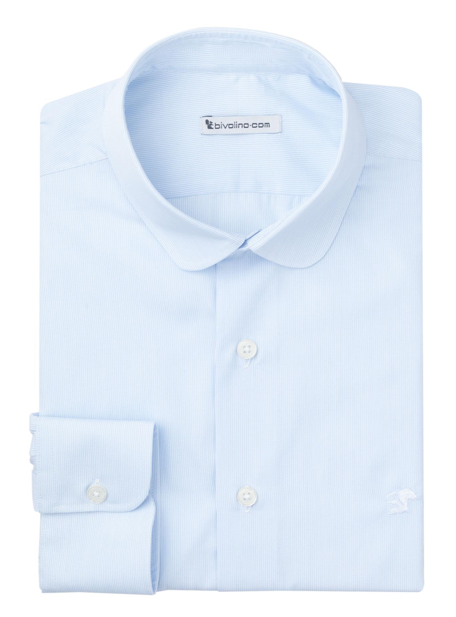 COSENZA - chemise homme Popeline Rayé Bleu Milleraie - DOCRA 6