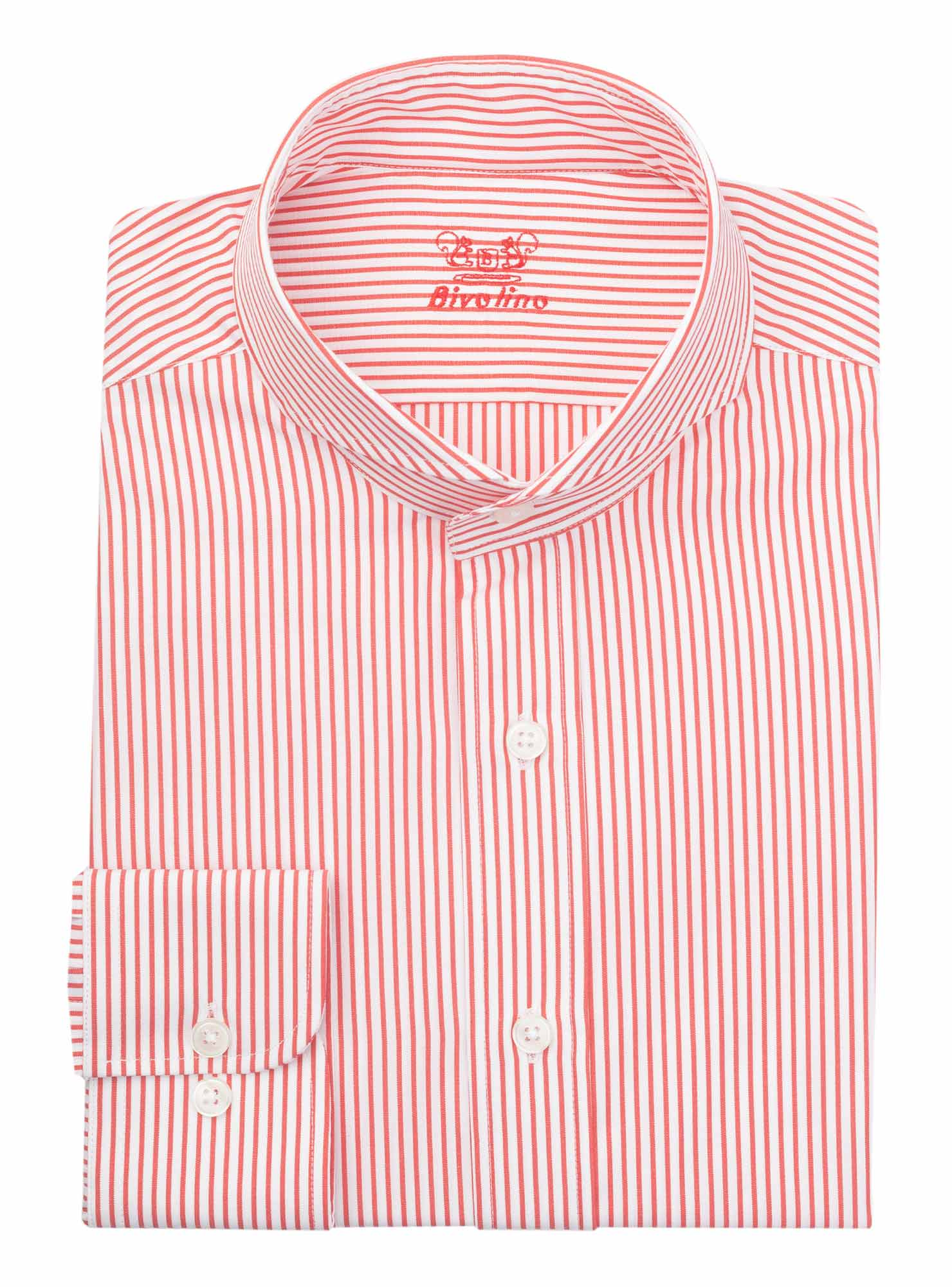 ENNA - chemise homme Popeline à rayures rouge bengale - WINDY 3