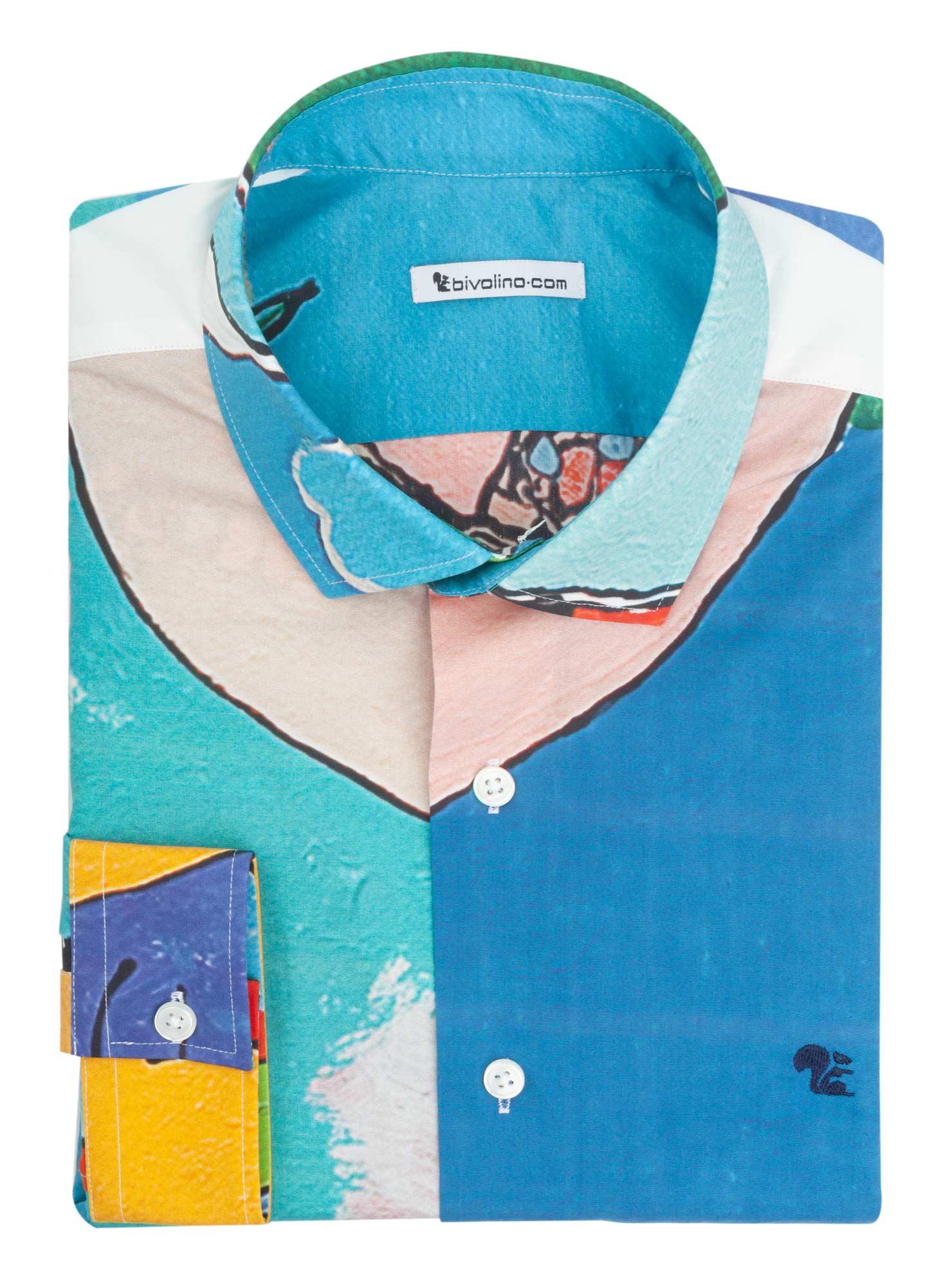 FERMO - chemise homme ARTY-PRINT - JAN LATINNE 2