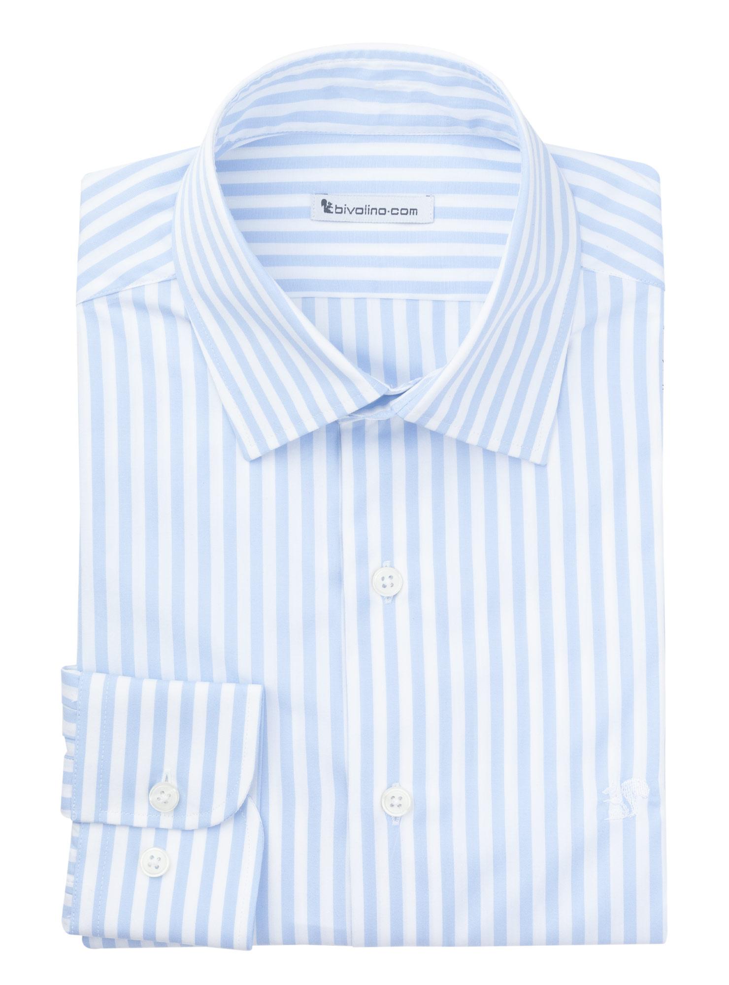 FOGGIA - chemise homme Popeline à rayures bleu - WINDY 2