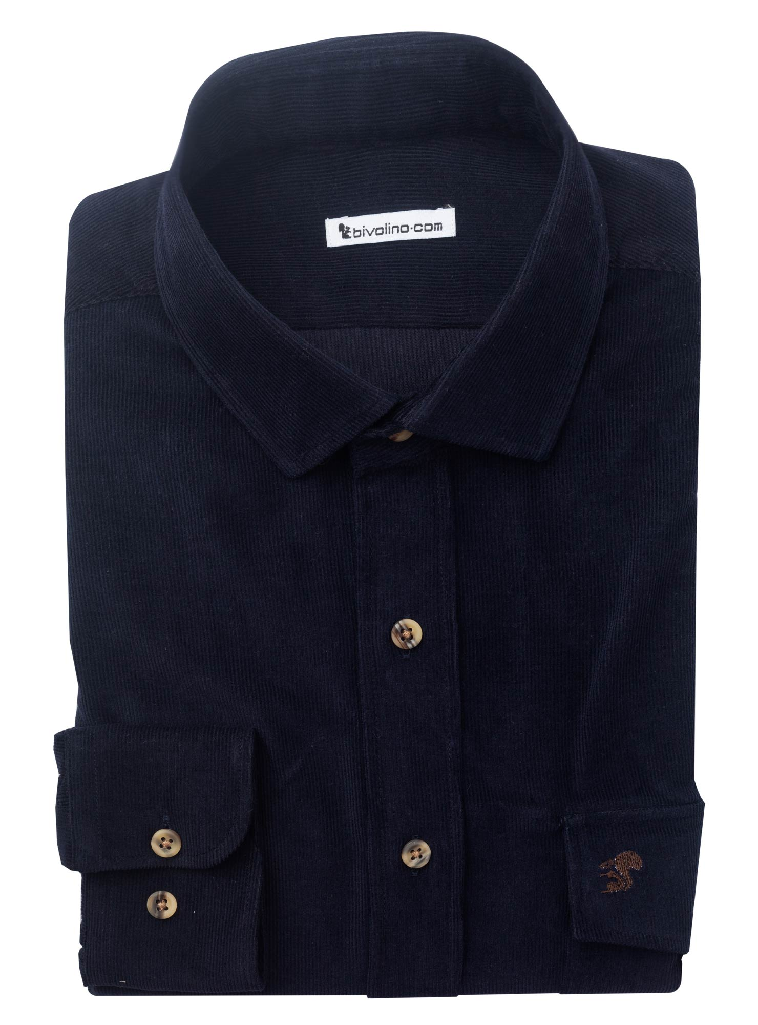 GIUGLIANO IN CAMPANIA - cordverlours navy cotton camisa de hombre - TANGO 1