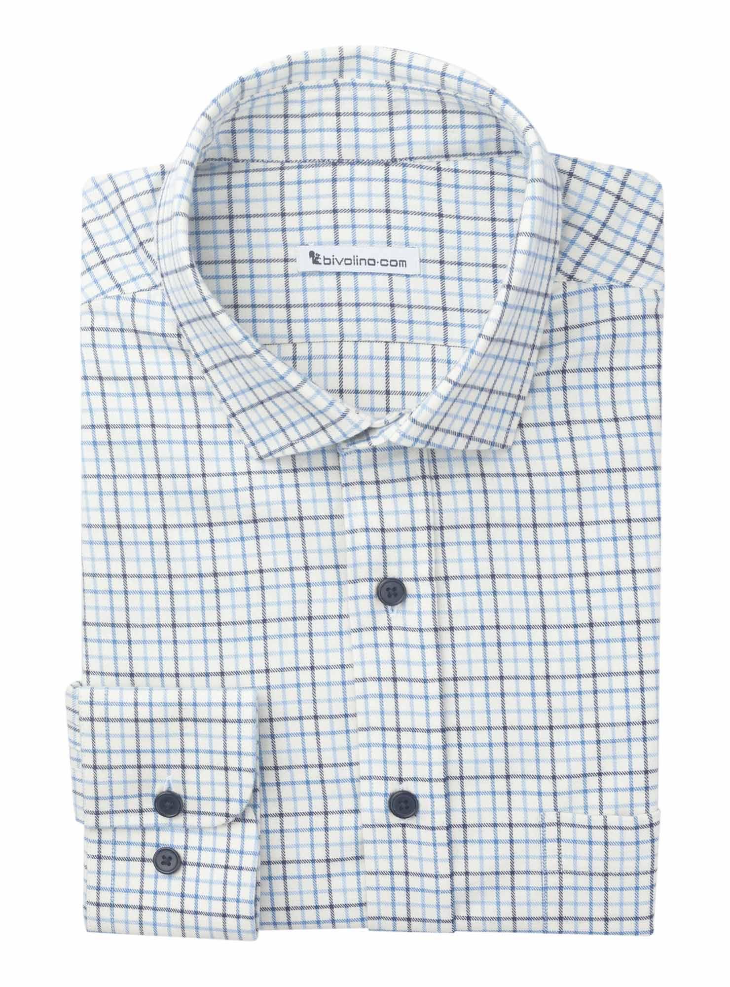 LECCE - Cuadros de franela tartán viyella camisa de hombre - PARA 9 - TARTAN TATTERSALL
