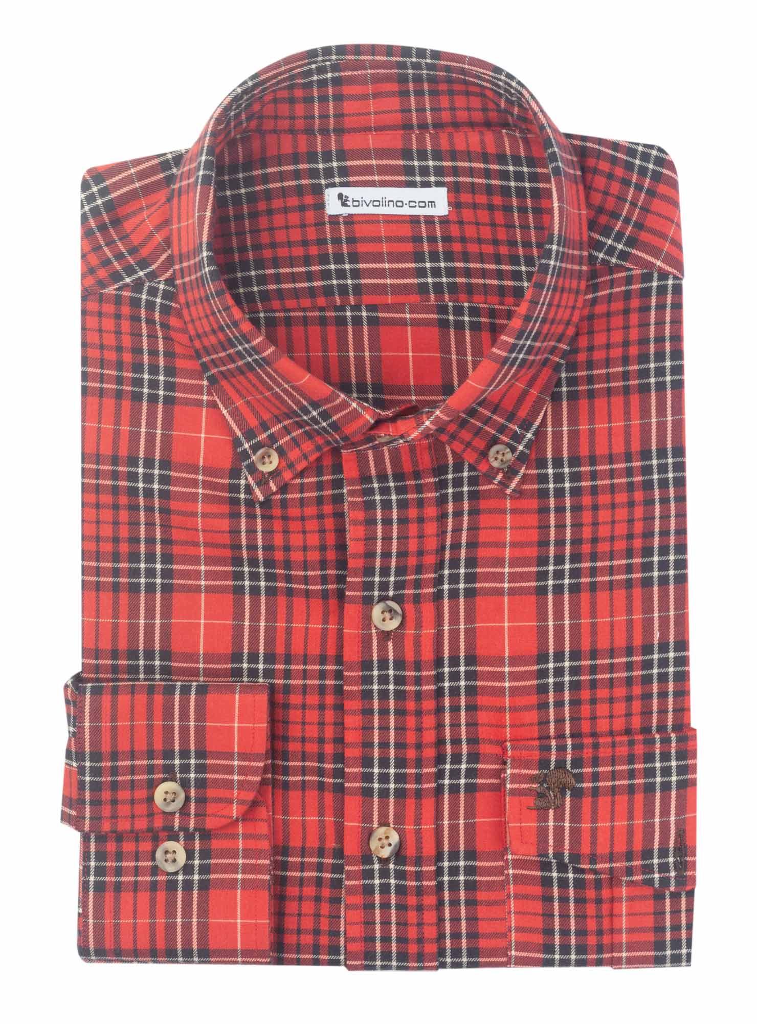 LATINA - Franela de cuadros de tartán camisa de hombre - LICO 2 - TARTAN